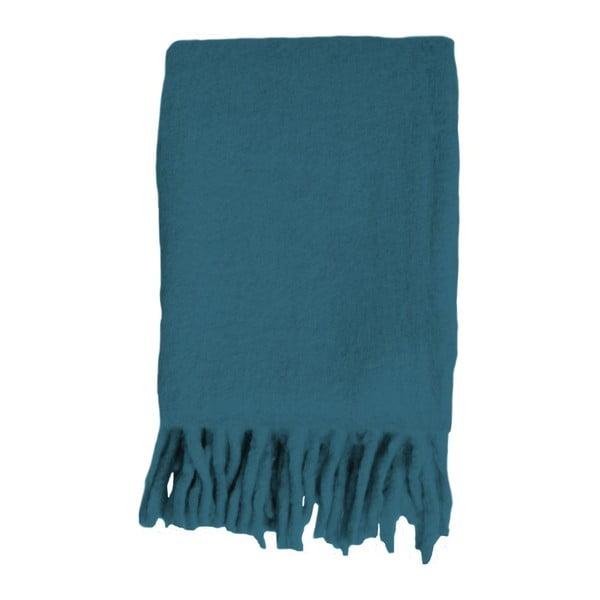 Modrý pléd Essenza Kyan, 125x180cm