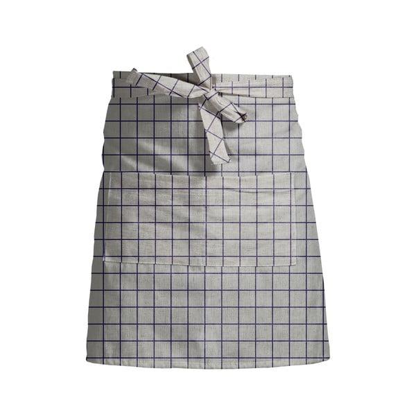 Șorț de bucătărie Linen Couture Delantal Simple Squares, gri