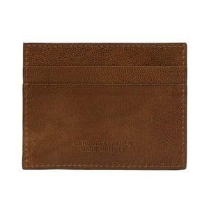 Koňakově hnědá pánská kožená peněženka na bankovky a karty Billionaire, 8 x 10 cm