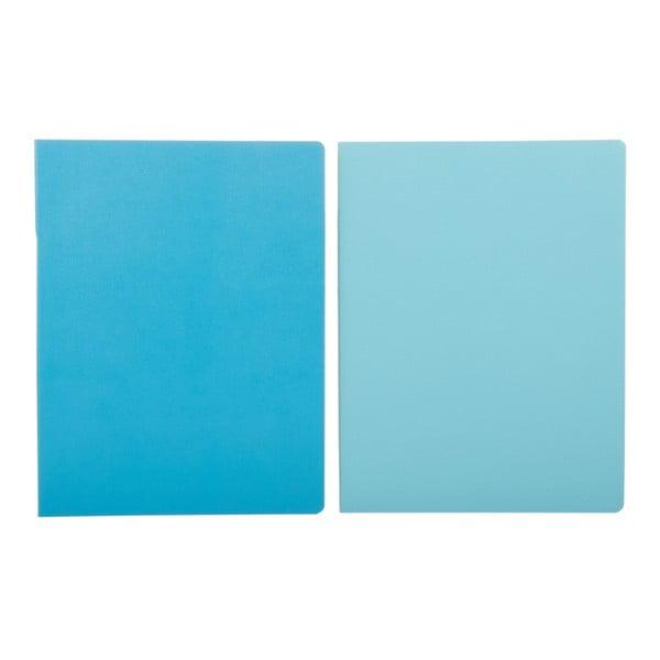 Sada 2 notesů Moleskine Sky Blue, linkované 19x25 cm