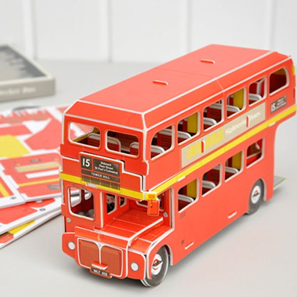 Autobuz londonez din carton Rex London Routemaster