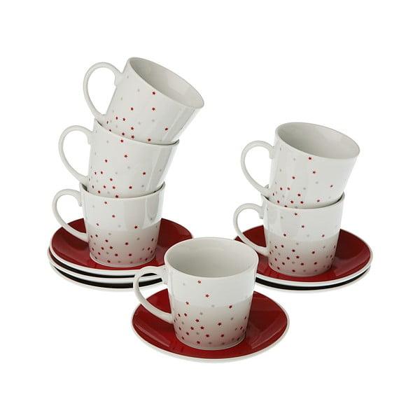 Zestaw 6 filiżanek ze spodkami VERSA Tea