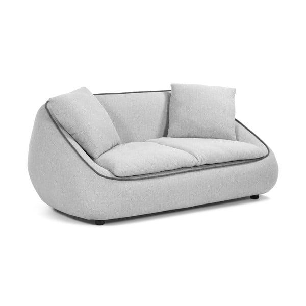 Canapea cu 2 locuri La Forma Safira, gri deschis
