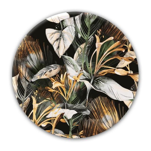 Nástěnná dekorace Styler Glasspik Ringart Tropical, ø70cm