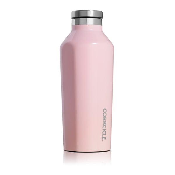 Světle růžová termolahev Corkcicle Canteen, 260 ml