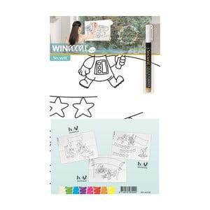 Set 3 šablon ve formátu A2 a popisovače na okno Securit® Boy's Birthday