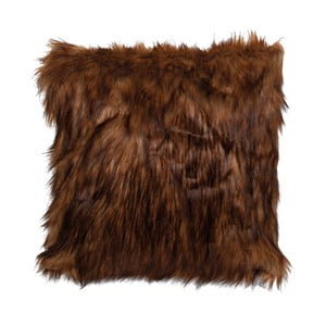 Tmavě hnědý povlak na polštář Clayre & Eef Fur, 40x40cm