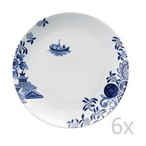 Sada 6 porcelánových talířů Willow Love Story, 27 cm