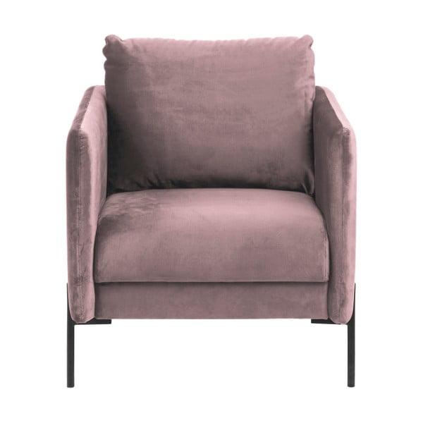 Jasnoróżowy fotel Actona Kingsley