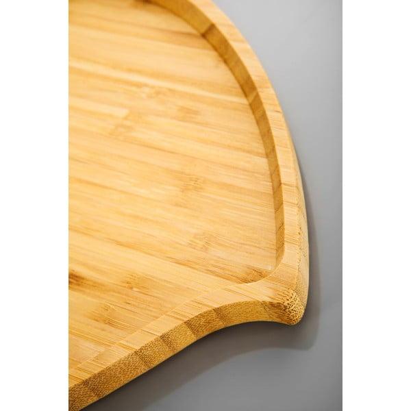 Bambusový servírovací podnos Bambum Amor, 23 cm