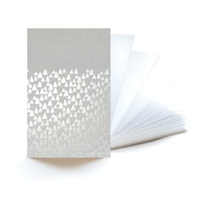 Stříbrný zápisník Mon Petit Art Accordeon