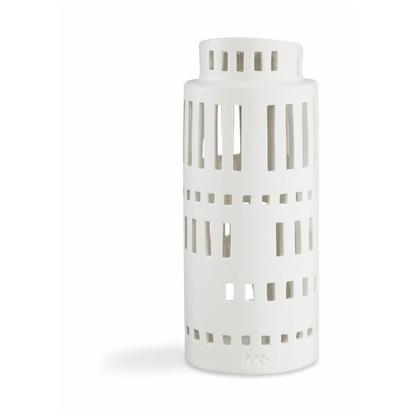 Urbania Lighthouse Tower fehér kerámia gyertyatartó - Kähler Design