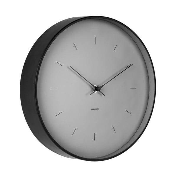 Šedé nástěnné hodiny Karlsson Butterfly, Ø 27,5 cm