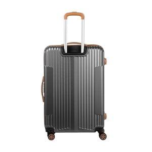 Černý kufr na kolečkách Murano Europa