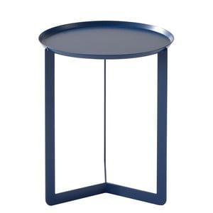 Tmavě modrý příruční stolek MEME Design Round, Ø40cm