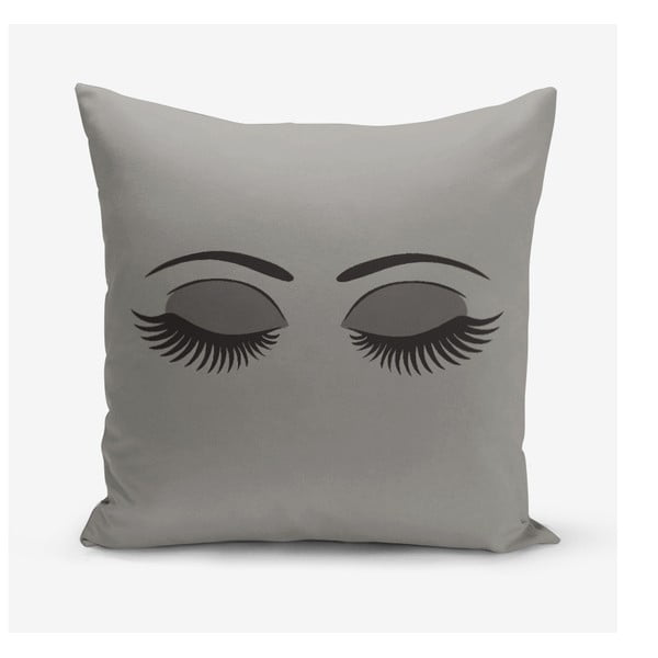 Šedý povlak na polštář Minimalist Cushion Covers Lash, 45 x 45 cm
