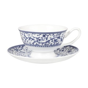 Hrnek s podšálkem Churchill China Blue Story Grace, 200 ml