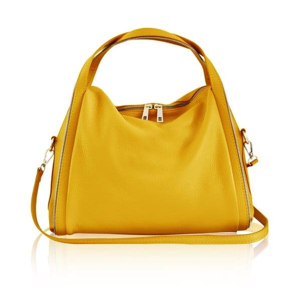 Kožená kabelka Kalisi, žlutá