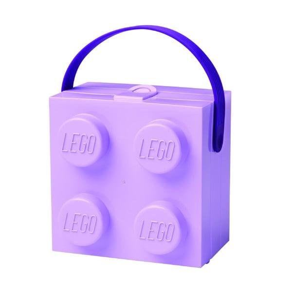 Cutie depozitare LEGO cu mâner, mov