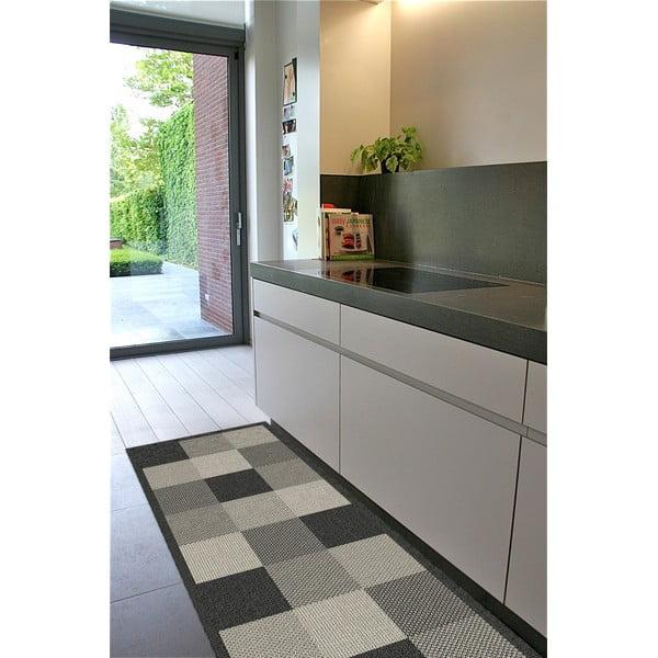 Kostkovaný koberec 80x200 cm