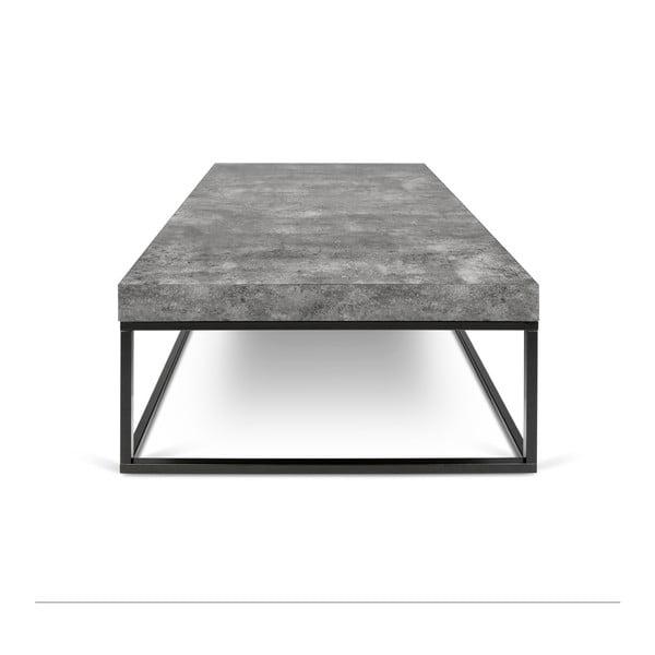 Konferenční stolek v dekoru betonu TemaHome Petra Low