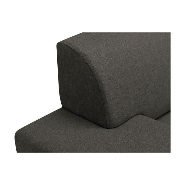 Tmavě šedá trojmístná pohovka s nohami v černé barvě Cosmopolitan Design Orlando