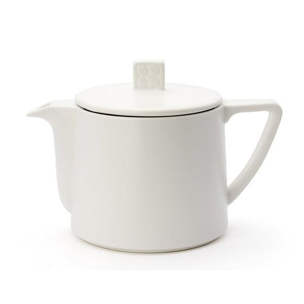Bílá keramická konvice se sítkem na sypaný čaj Bredemeijer Lund, 500 ml