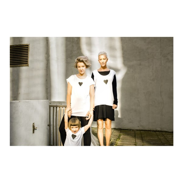 Dámské šedé triko z organické bavlny s motivem Spolu od Lény Brauner & IM Cyber pro KlokArt, vel.L