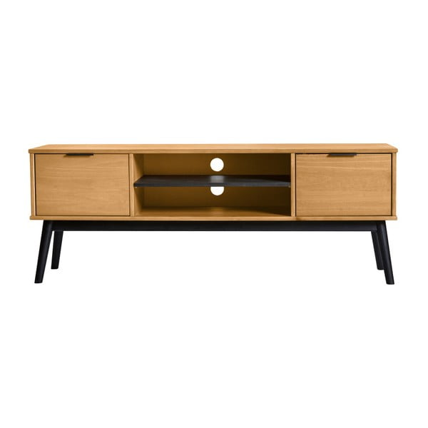 Brązowa szafka pod TV z drewna sosnowego Marckeric Estela, 52x140 cm