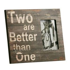 Fotorámeček Two are better than one, 23x28 cm