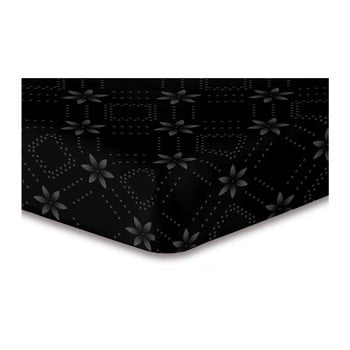 Cearșaf cu elastic, din microfibră DecoKing Hypnosis Snowynight, 220 x 240 cm, negru de la DecoKing
