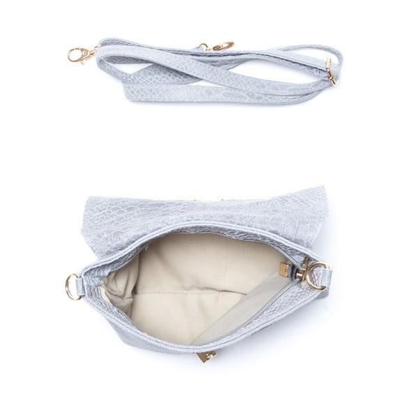 Kožená kabelka Delfina, šedá