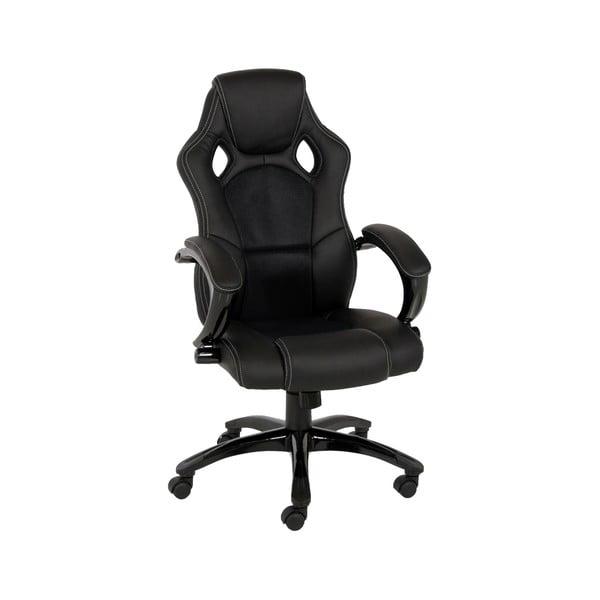 Czarne krzesło biurowe na kółkach Actona Speedy