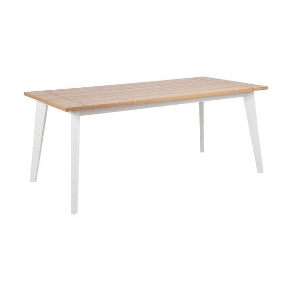 Hnědo-bílý jídelní stůl Actona Derry, 180x 90 cm