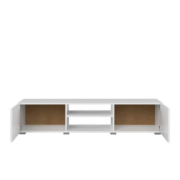 Bílý TV stolek Symbiosis Podium