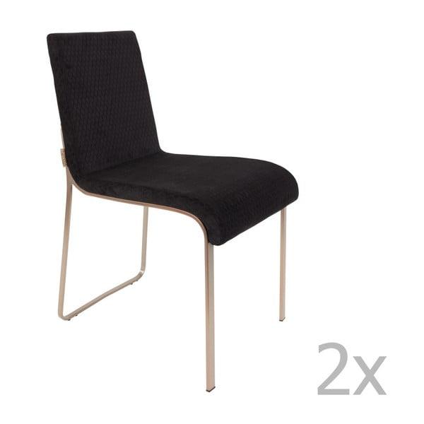Fiore 2 részes fekete szék szett - Dutchbone