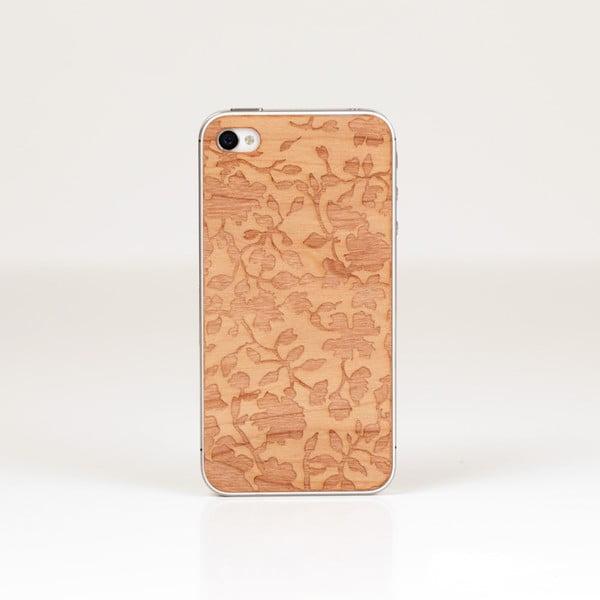 Nalepovací dřevěný kryt Fiorello na iPhone 5, třešeň