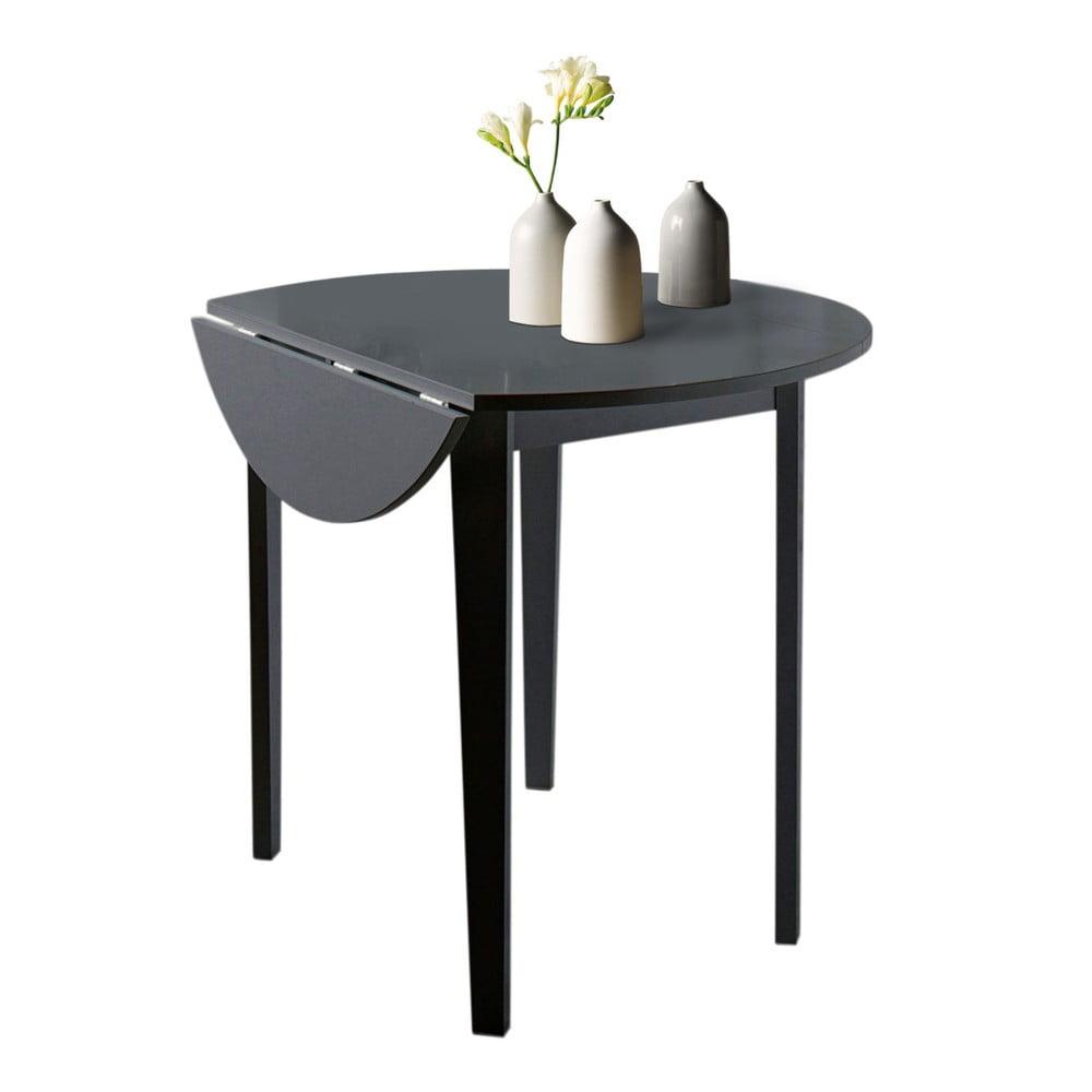 Černý skládací jídelní stůl Støraa Trento Quer, ⌀ 92 cm