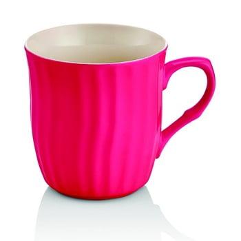Cană din porțelan Efrasia, roz închis