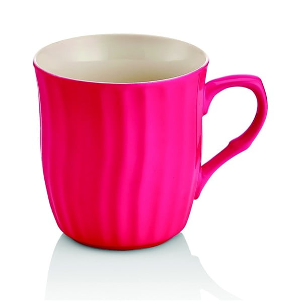 Tmavě růžový porcelánový hrnek Efrasia