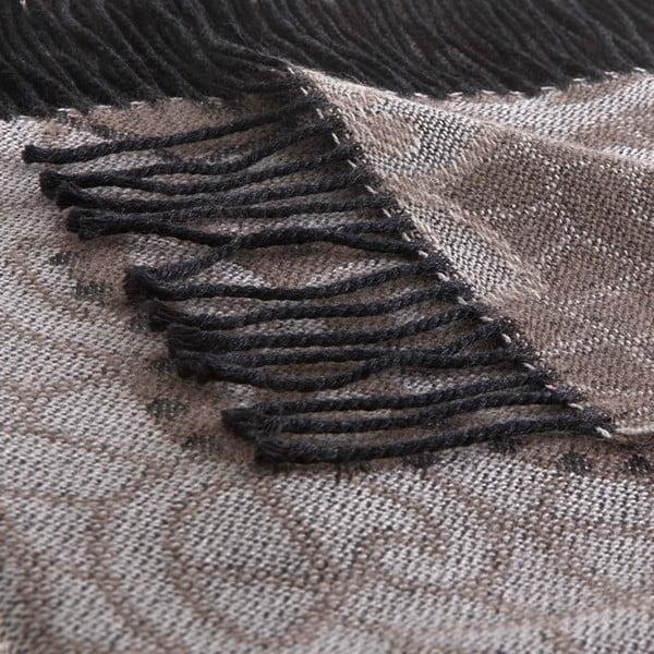 Vlněný pléd Rubino 130x180 cm, hnědý