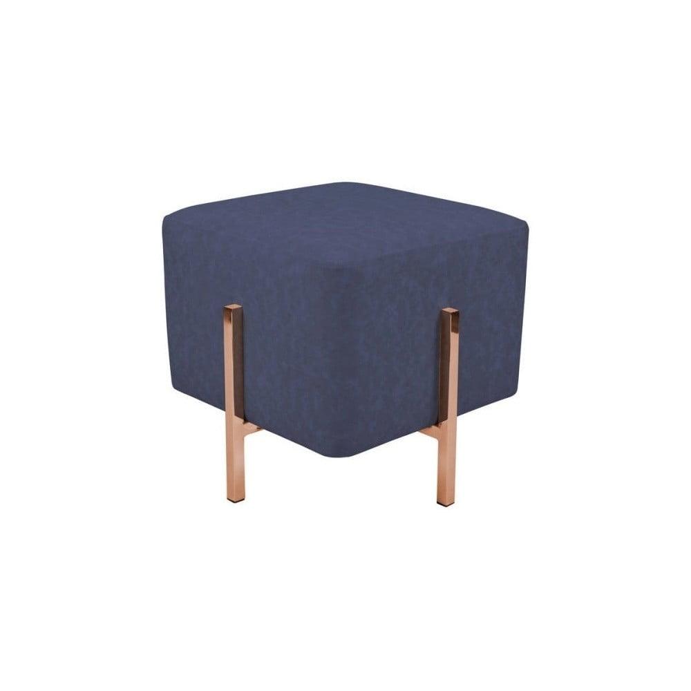 Modrá stolička s nohami v měděné barvě Vivorum Liani