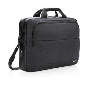 Černá taška na notebook XD Design 15'' Swiss Peak, 8l