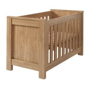 Pătuț pentru bebeluși, aspect de lemn, Núvol Paula, 60 x 120 cm