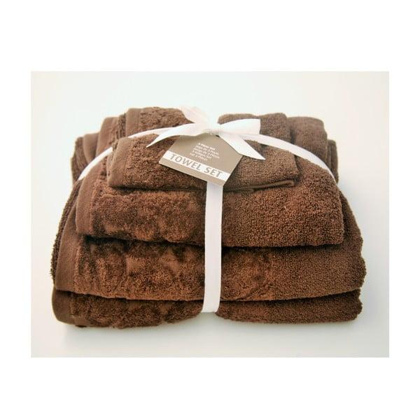 Sada 3 ručníků Seixos Chocolate