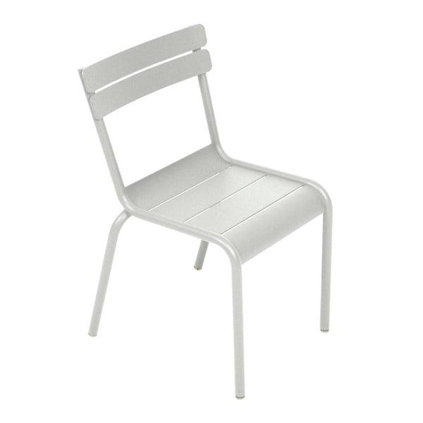 Světle šedá dětská židle Fermob Luxembourg