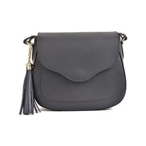 Černá kožená kabelka Mangotti Bags Karmo