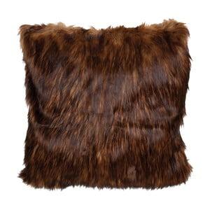 Tmavě hnědý povlak na polštář Clayre & Eef Fur, 50x50cm