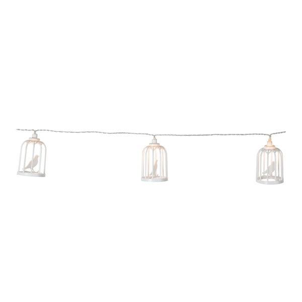 Bílý světelný LED řetěz Best Season Bird Cages,6světýlek