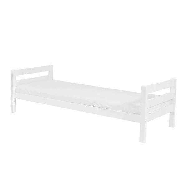 Bílá dětská jednolůžková postel z masivního bukového dřeva Mobi furniture Nina, 200x90cm